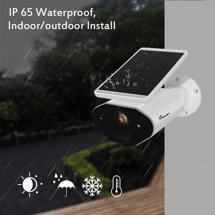 Outdoor 1080P HD Pir Remote Control Baterai Solar Powered Nirkabel Ip Kamera Keamanan CCTV