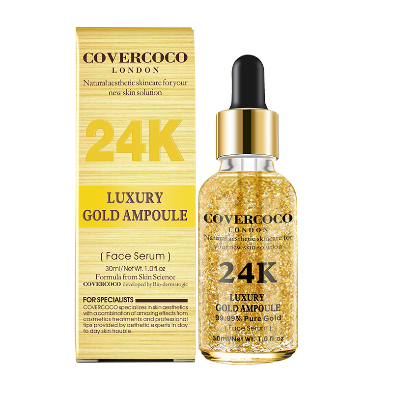 COVERCOCO Moisturizing Lifting Skin Care Pure 24 พัน Gold Ampoule เซรั่ม