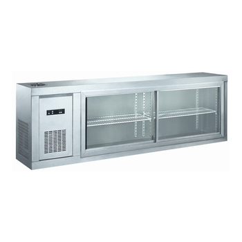 Restaurant Refrigeration Equipment 1.2m Static Cooling Wall-Mounted Glass Sushi Display Refrigerator Cabinet