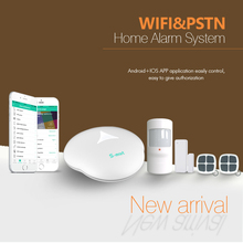 WiFi network wireless burglar alarm system with IP camera & App controlled WiFi PSTN home security alarm system