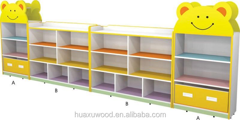 Huaxu Kindergarden Preschool Furniture Storage Cabinets