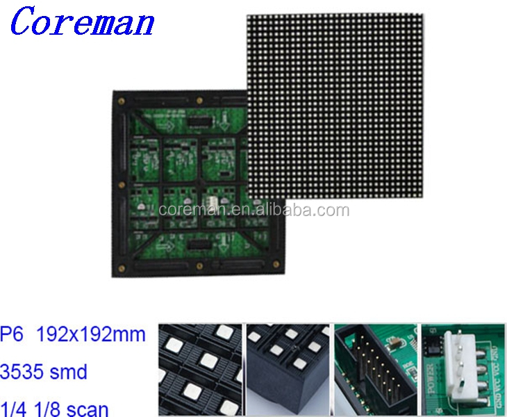 Coreman stage rental p6 advertising led smd 3535 mobile rental