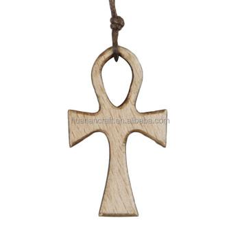 2d74542e4ae Fabricante de China de madera de olivo oración pequeña cruz de madera  colgante