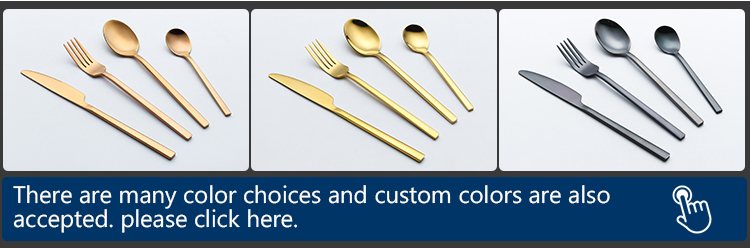 Portugal gold cutlery set  spoons forks knives 304 stainless steel gold flatware set  pvd coating flatware