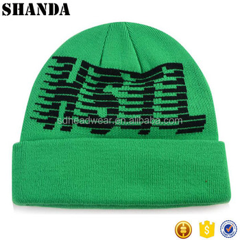 1d52ad2e283 Custom jacquard weave embroidery wool knitted sports polyester winter  beanie hats