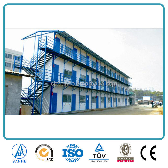 Chinese factory foam cement sandwich panel ready made prefab house
