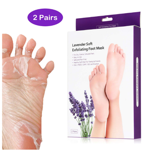 OEM 2 Pairs Lavender Skin Care Exfoliant Foot Peel Mask for Soft Feet in 7 Days