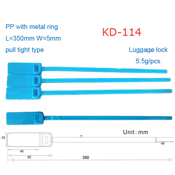 Made in China ISO PASSED crown luggage plastic seal KD-114 plastic seal lock for luggage