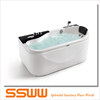 small size white acrylic apron massage bathtubs