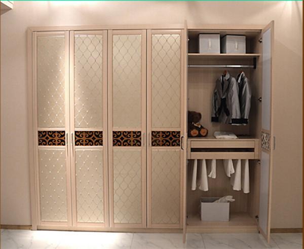 Laminated Plywood Wardrobe Clothes Closet With Sliding