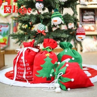 Holiday wholesale christmas santa sacks felt gift bags