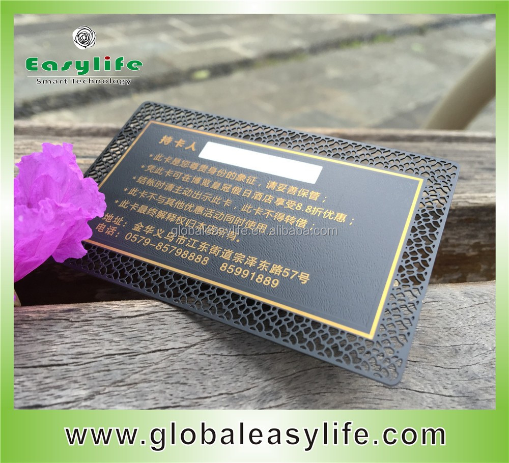 Anodized Black Metal Stainless Steel Business Card With Color ...
