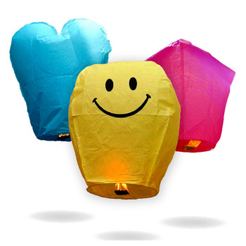 Cheap Chinese No Flame Wire Free Flying Paper Sky Lanterns