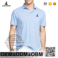 custom high quality 180g stripe mens 100% microfiber polyester polo shirts
