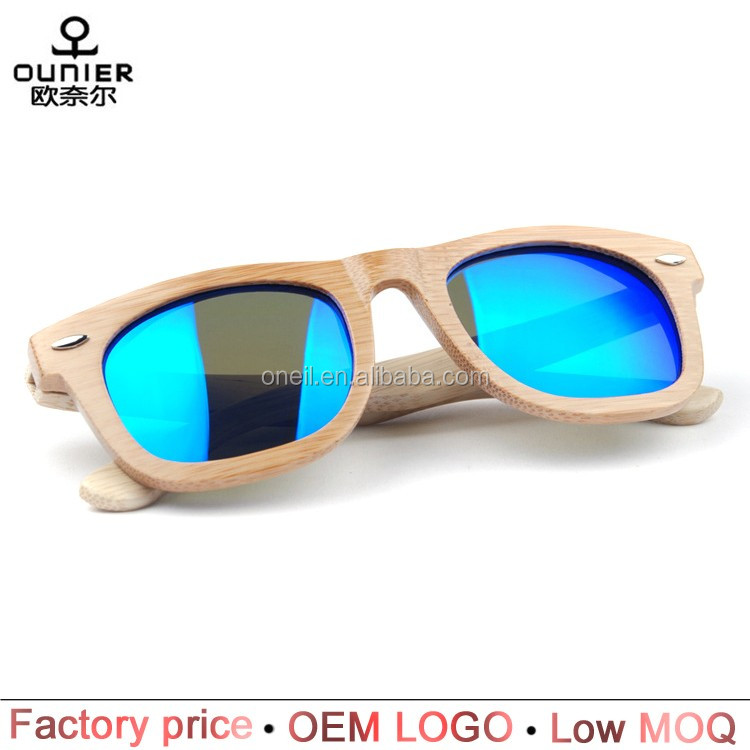 Bamboo wooden sunglasses brand your own custom polarized mirror 2017 fashion sunglasses women