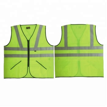 Knitted Fabric Reflective Vest With Pockets