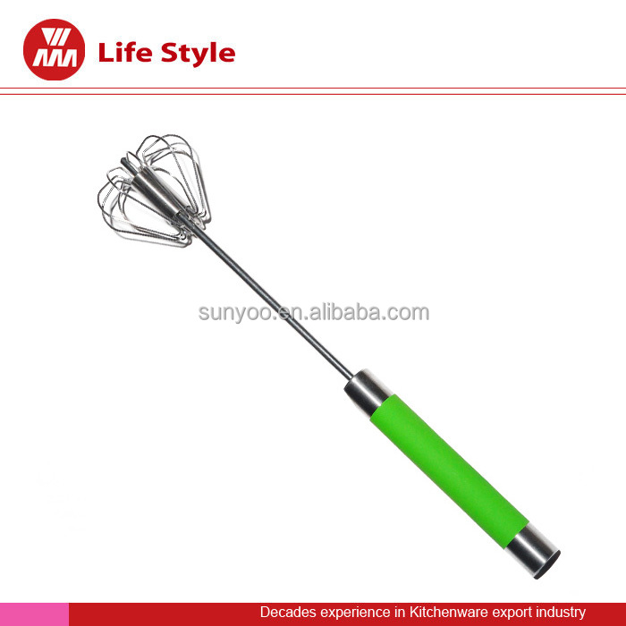 food grade kitchen tools stainless steel eggbeater/whisk with pp handle