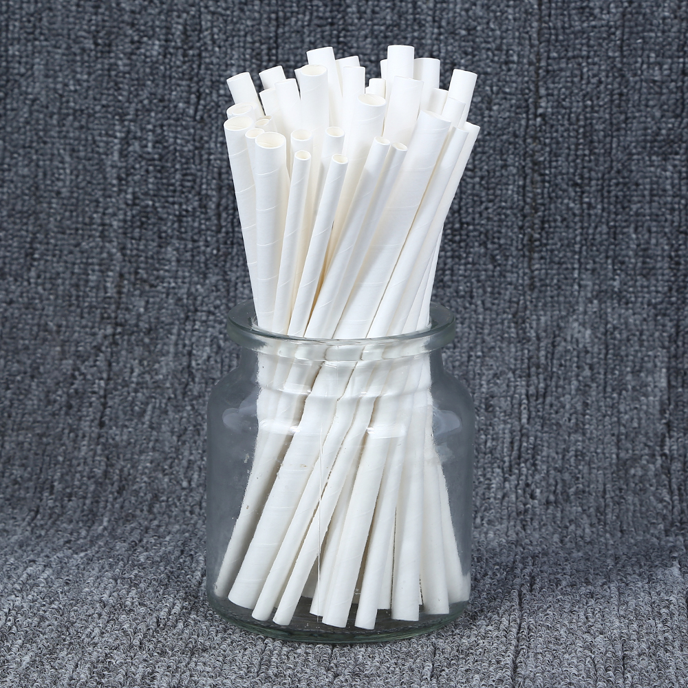 THINKGREEN EU/FDA Certificate Disposable Degradable Striped Print High Quality Extendable Fancy Foldable Drinking Straw