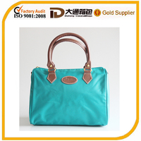 230d nylon genuine leather tote fashion lady bags/handbags 2016
