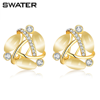 Saudi Arabia Jewelry Fashion 24 Carat Small Gold Bali Hanging