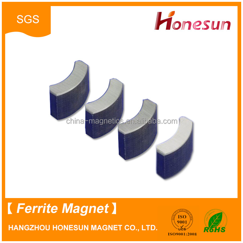 arc segment ferrite magnets in pairs