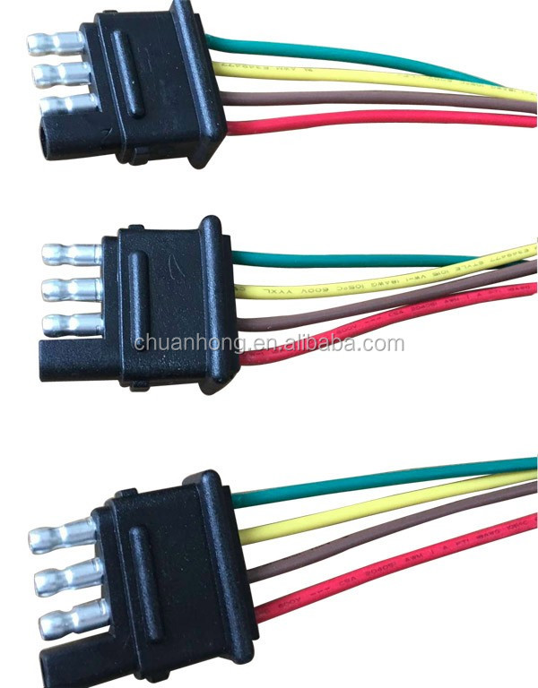 4 Pin Way Trailer Light Wiring Harness Extension 4 Pin 18 Awg Flat  Pin Wiring Harness Extension on
