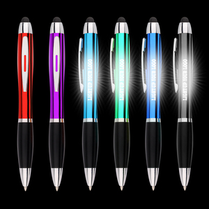 Alibaba new promotional gift Stylus and LED light pen with light up your logo