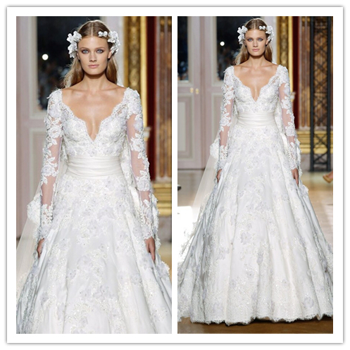 2014 Romantic Zuhair Murad Wedding Dresses A Line White ...