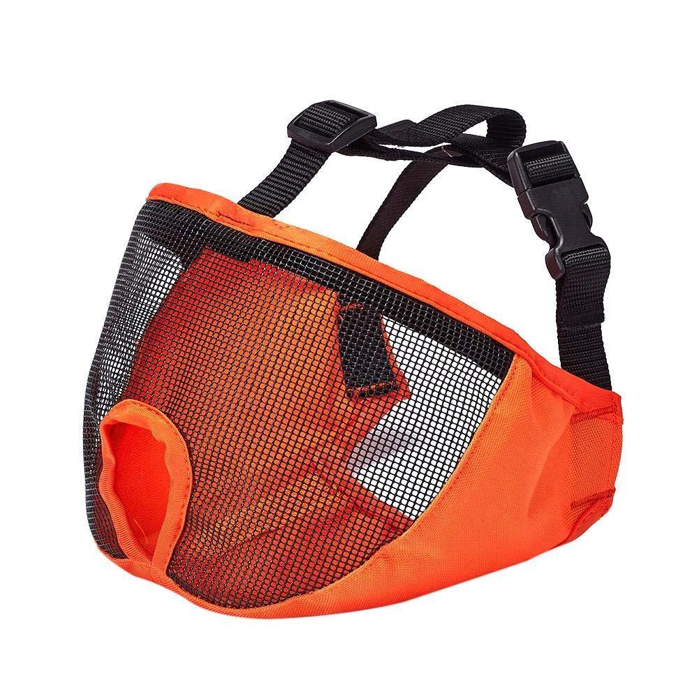 Jocestyle Breathable Dog Mesh Mask Dog Muzzle Adjustable Anti Bark Bite for Pet Training