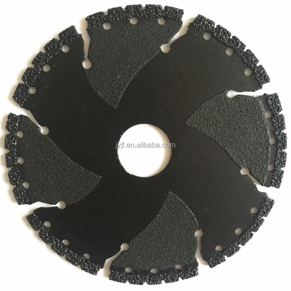 Vacuum Brazed Diamond Dry Cutting Saw Blade For Granite/Marble/Tile/Steel