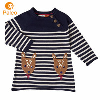 Custom Factory cotton knit strip embroidery designs baby dress