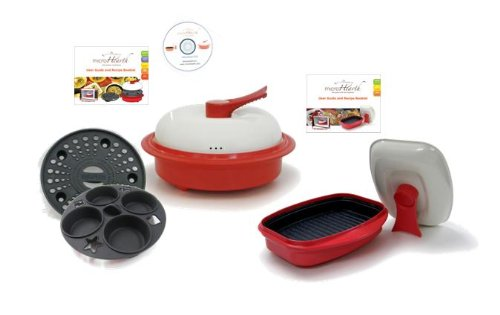 Get Quotations Microhearth C11rc4 G03rs2 6 Piece Microwave Cookware Set With 4 Everyday Combo
