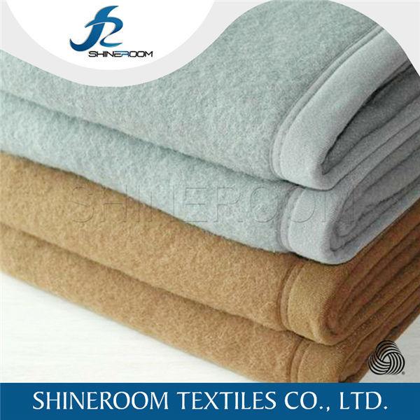 Plain Cheap Brushed 100% Australian Merino Wool Blanket