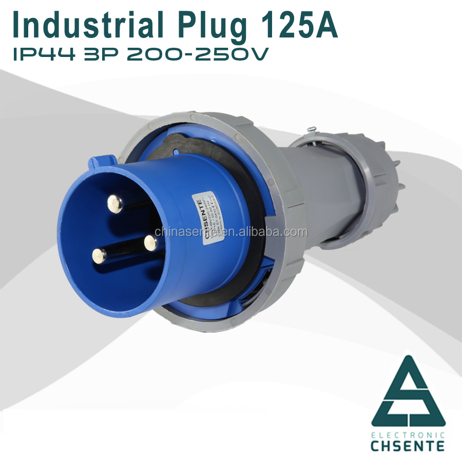 IP67 Round 4 Pins Copper High Current 125A Industrial Power Plugs