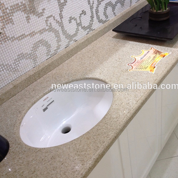 One Piece Kitchen Molded Sink And Quartz Countertop Whole