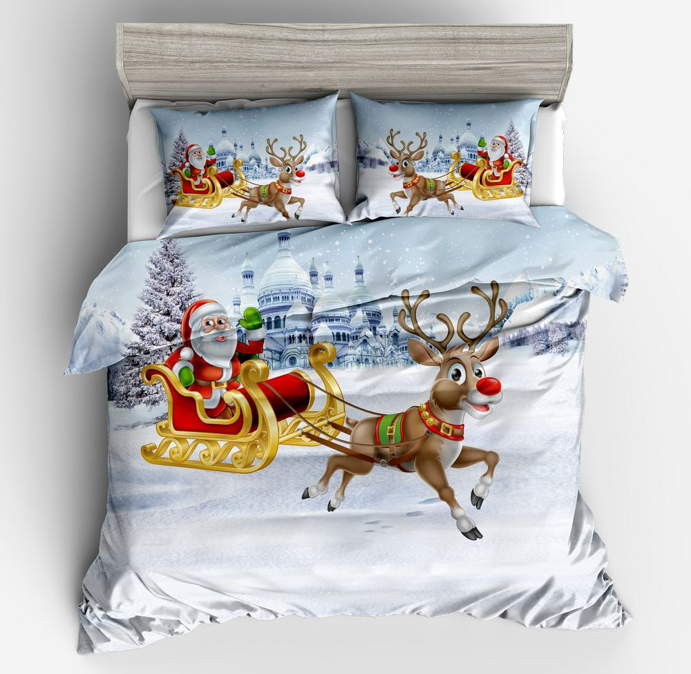 Christmas Sheets King.Christmas Snowman Duvet Cover With Zipper King Size 3d Cotton Bed Sheets Set Buy European Size Duvet Covers Christmas Bedding Set Duvet Cover King