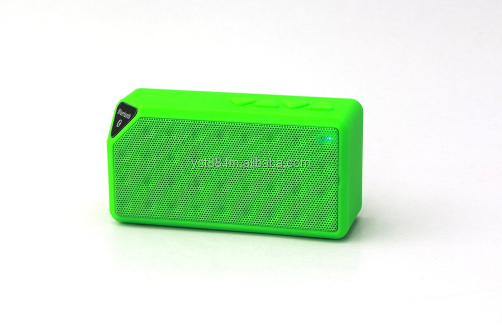 Music cube portable bluetooth speaker with USB/FM radio port