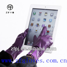 Wholesale low price high quality customized touch screen gloves leather