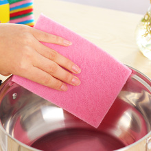 Kitchen Color Scouring Pad Dishwashing Sponge Cleaning Cloth