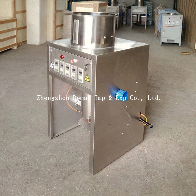 China ginger garlic paste making machine/garlic root cutting machine price