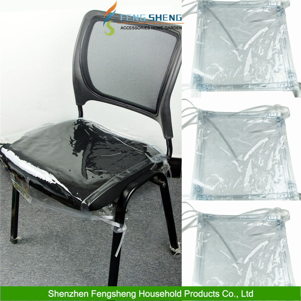 Plastic Seat Covers For Dining Room Chairs: En Plastique Transparent À Manger Chaise Couvre Siège