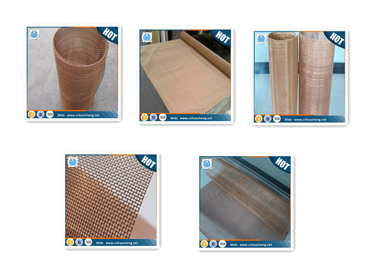 Paper making phosphor bronze wire mesh for filtering netting