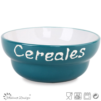 Ceramic Cereal Bowl Microwave Safe Rice Bowl Stoneware Solikd ...
