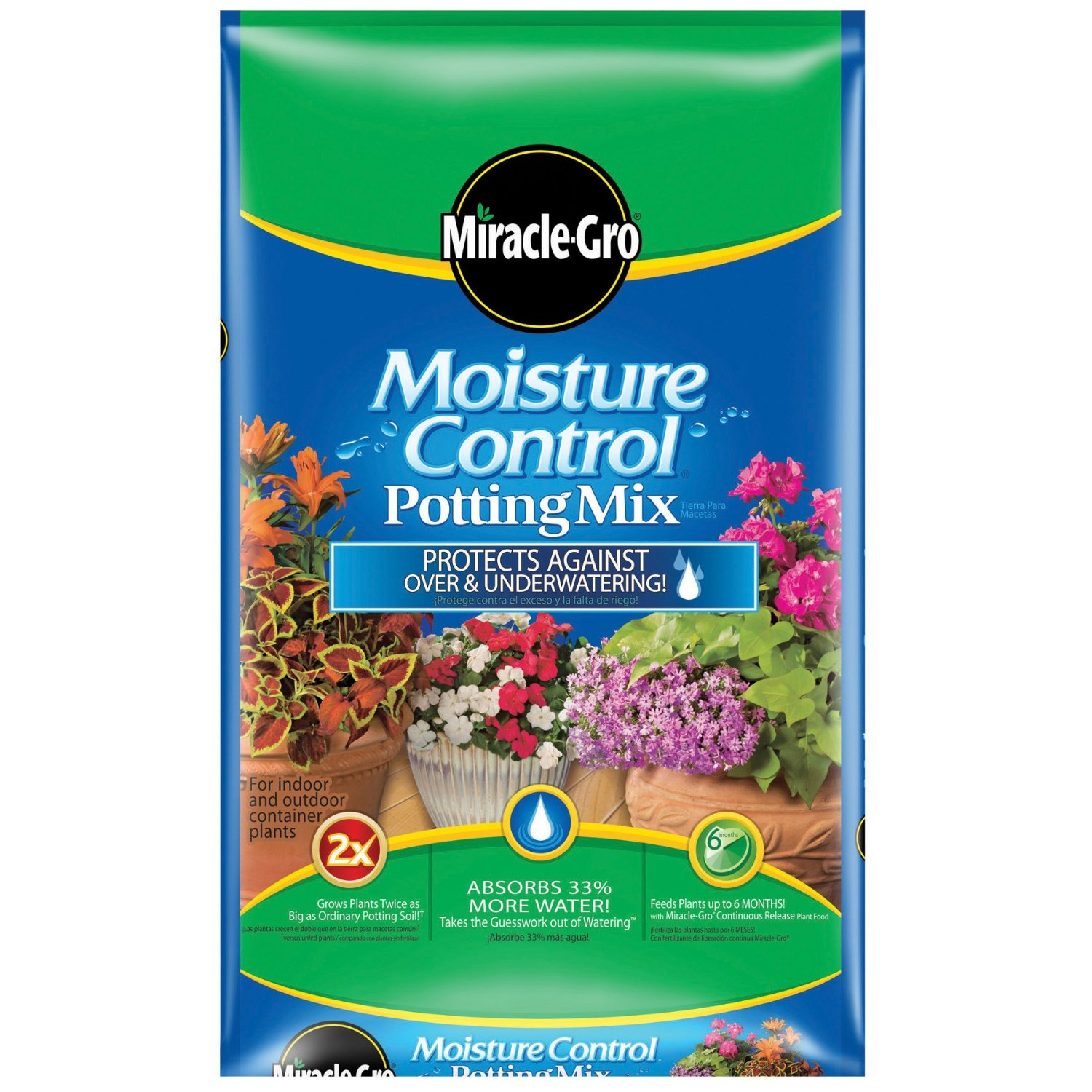 Miracle-Gro Moisture Control Potting Mix, 1-Cubic Foot