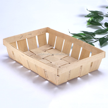 Poplar wooden basket fruit and vegetables wooden case