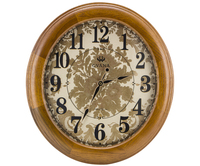 Unique Design Solid Wood Round Art Deco Antique European Style Wall Clock JHF15-8118B