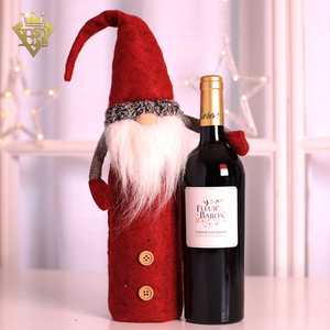 Santa, Reindeer And Snowman Style Red Wine Cover Wine Bottle Dress for Christmas