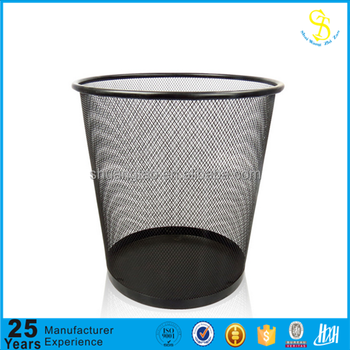 Waste Paper Basket, Wire Metal Trash Can For Office And School