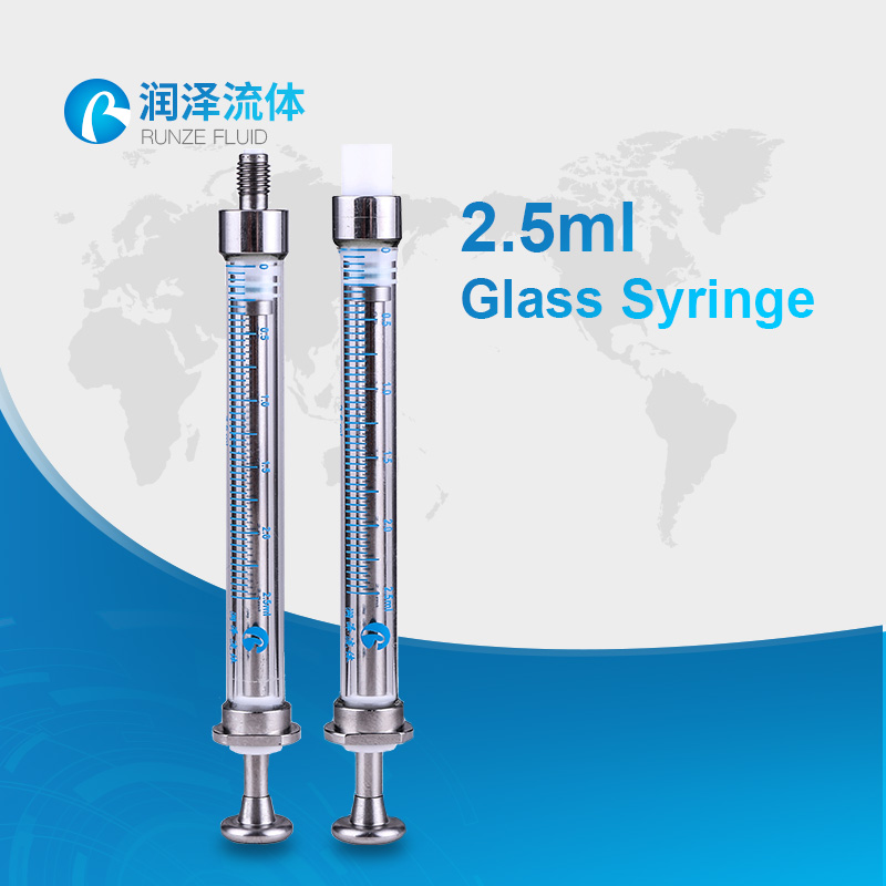 promotion lab glassware supply 2.5cc glass syringe
