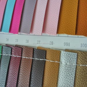 Eco-friendly litchi grain PVC PU synthetic leather low price eco friendly pu coated leather
